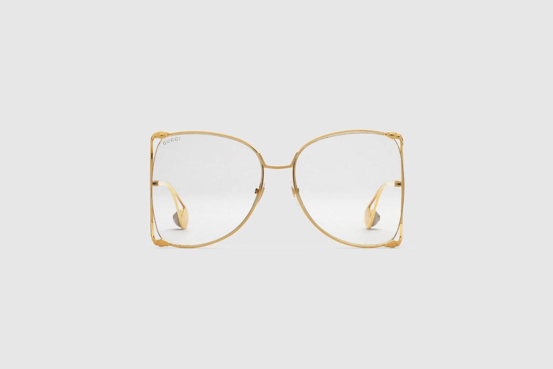 5bd3937fa7e Gucci Oversize round-frame metal Sunglasses