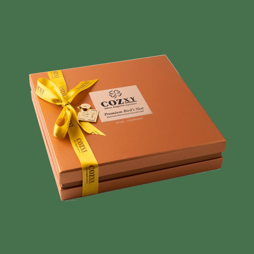 คอซซี่ กล่องของขวัญรังนกแท้พรีเมี่ยม สูตร Original หวานน้อย ขนาด 12 ขวด สีคอปเปอร์ ให้แทนกระเช้าสุขภาพ