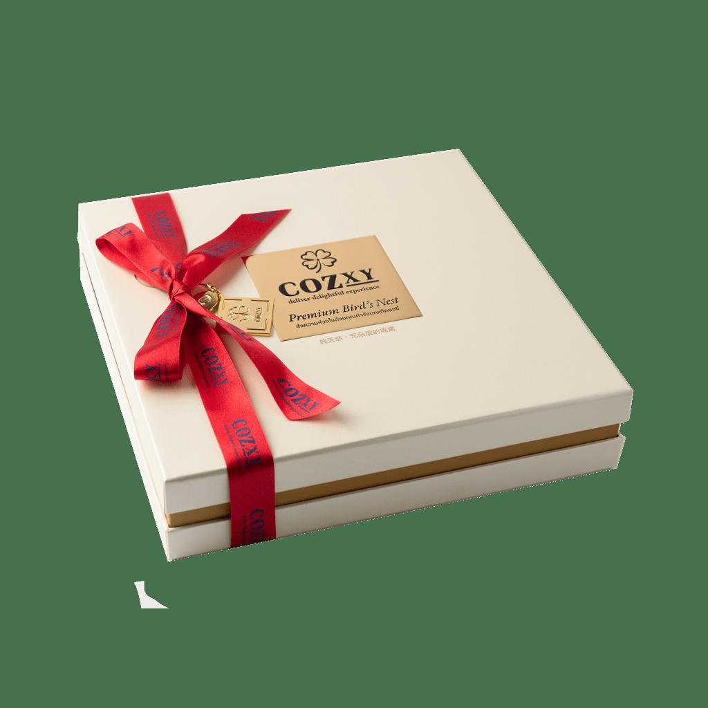 คอซซี่ กล่องของขวัญรังนกแท้พรีเมี่ยม สูตร Original สูตรหวานน้อย ขนาด 10 ขวด สีขาวมุก ให้แทนกระเช้าสุขภาพ