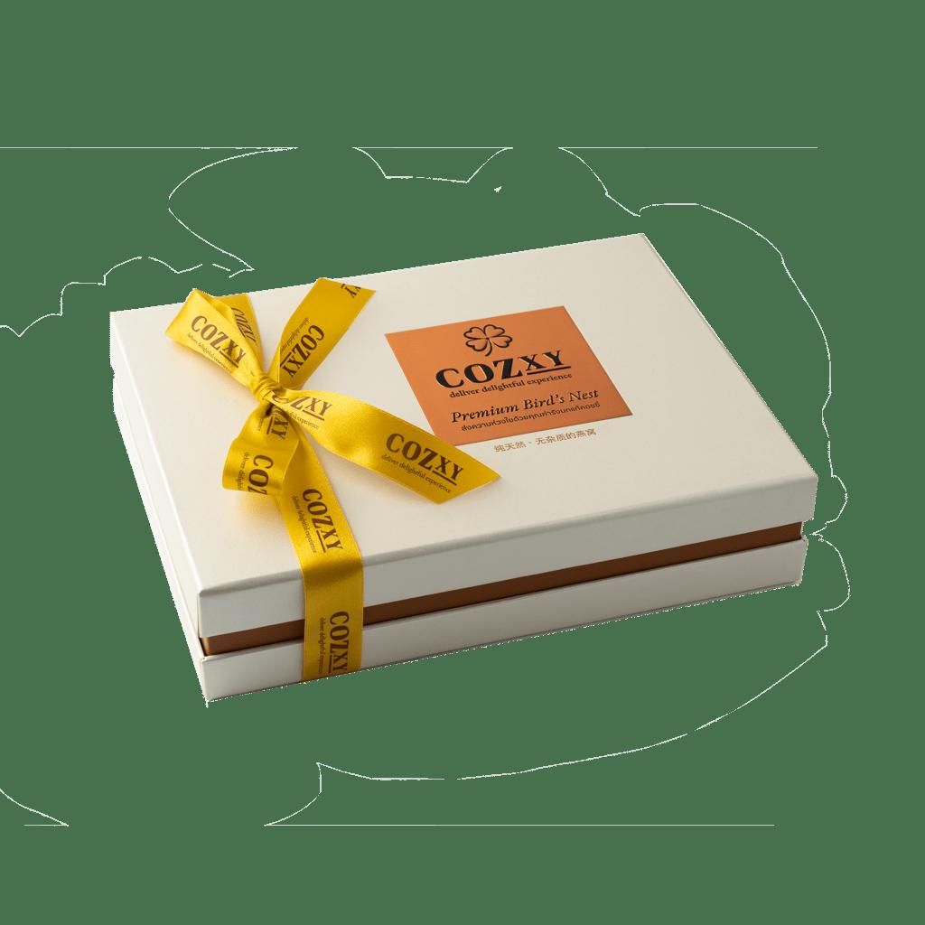 คอซซี่ กล่องของขวัญรังนกแท้พรีเมี่ยม สูตร Original หวานน้อย ขนาด 8 ขวด สีขาวมุก ให้แทนกระเช้าสุขภาพ