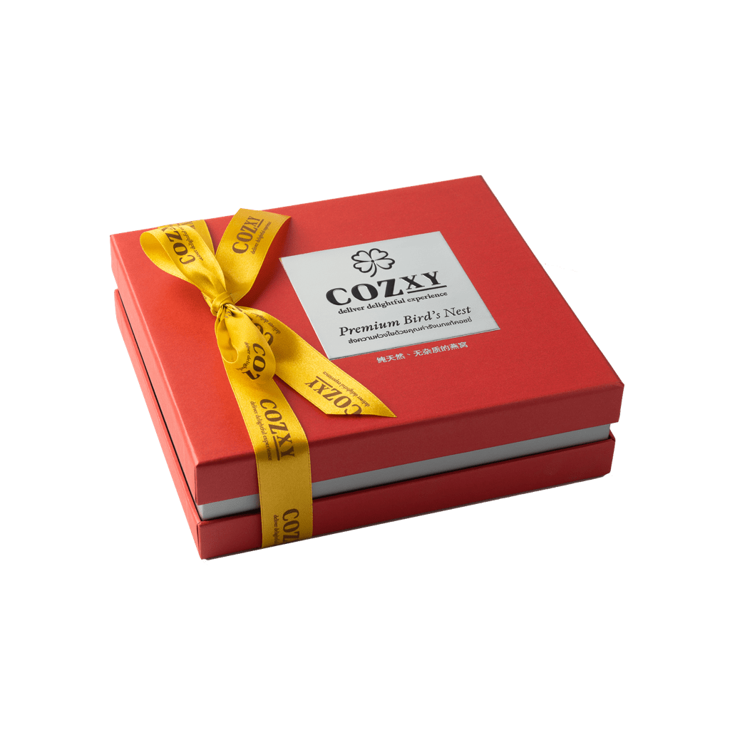 คอซซี่ กล่องของขวัญรังนกแท้พรีเมี่ยม สูตร Original หวานน้อย ขนาด 5 ขวด สีแดง ให้แทนกระเช้าสุขภาพ
