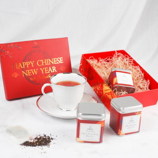 Happy Chinese New Year ชา 100% Natural 3 รสชาติ