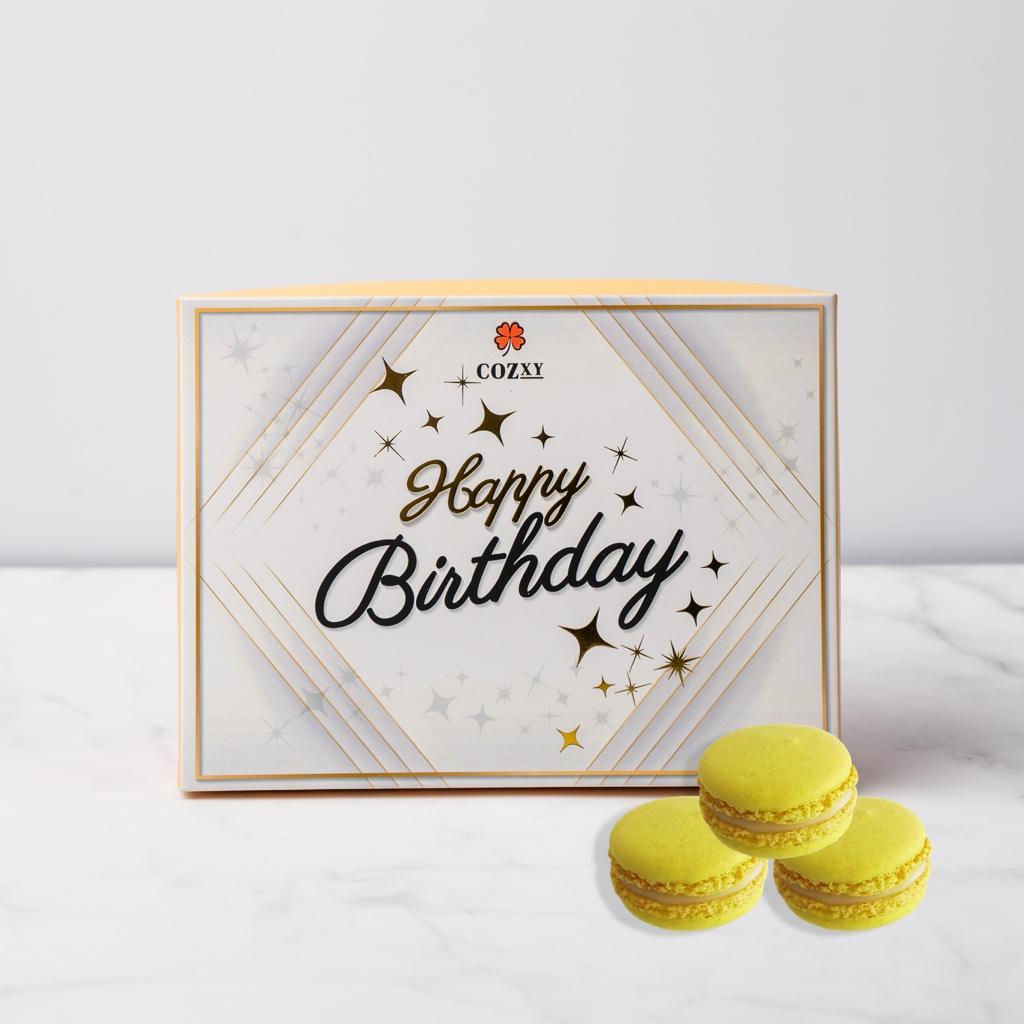 Happy Birthday เลม่อน มาการอง 10 ชิ้น