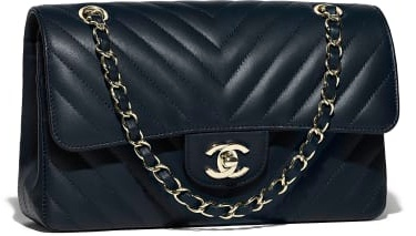 Chanel lambskin and gold tone metal bag